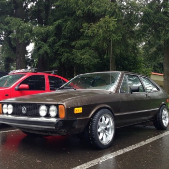 Early Mk1 Scirocco in the parking lot